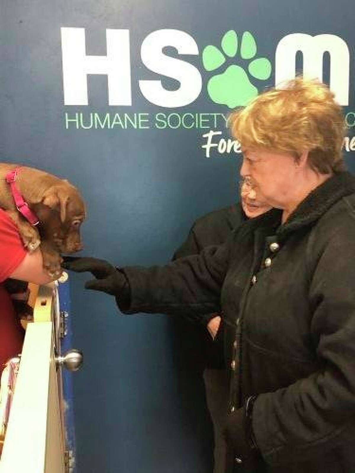Primrose retirement residents recently visited with dogs at the Humane Society of Midland County. (Photo provided)