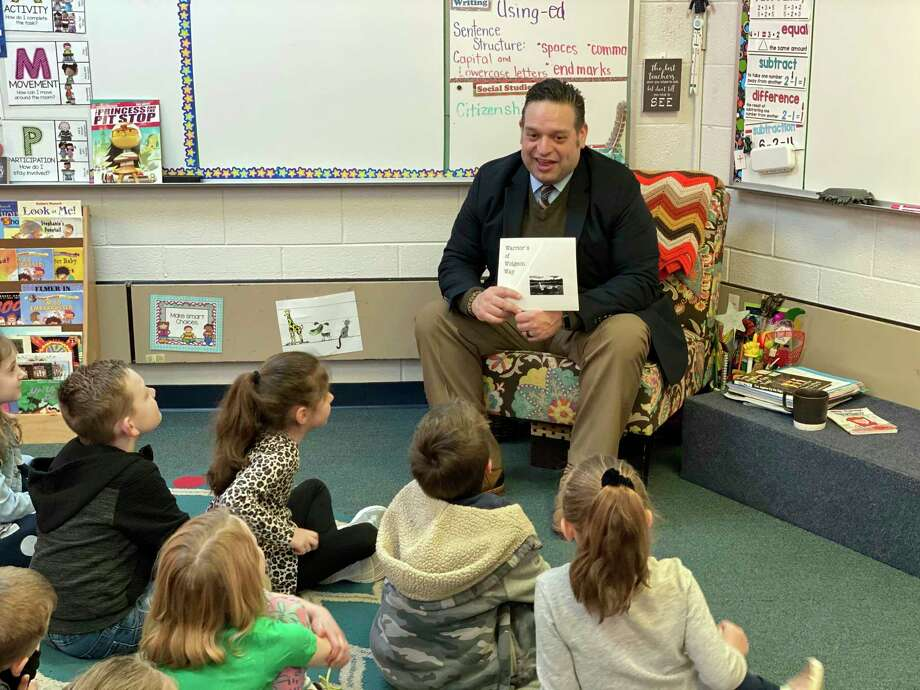 In honor of National Reading Month, Hemlock Superintendent Donald Killingbeck is scheduled to visit several classrooms and read to students this month as part of the celebration. (Photo provided)