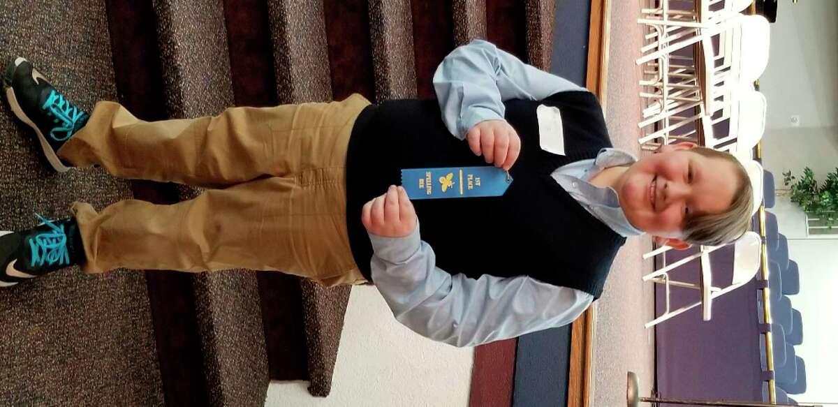 Gunner Kilbourn won the MACS Spelling Bee. (Photo provided)