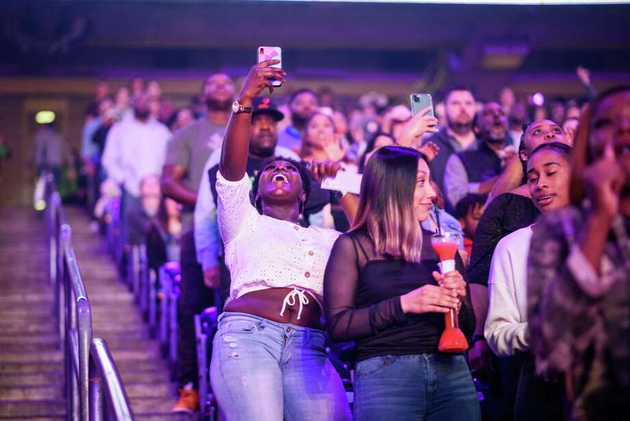 Fans at NRG Stadium in Houston, TX to see Chance the Rapper perform at Rodeo Houston on Friday, March 6, 2020 Photo: Jamaal Ellis, Contributor / © 2020