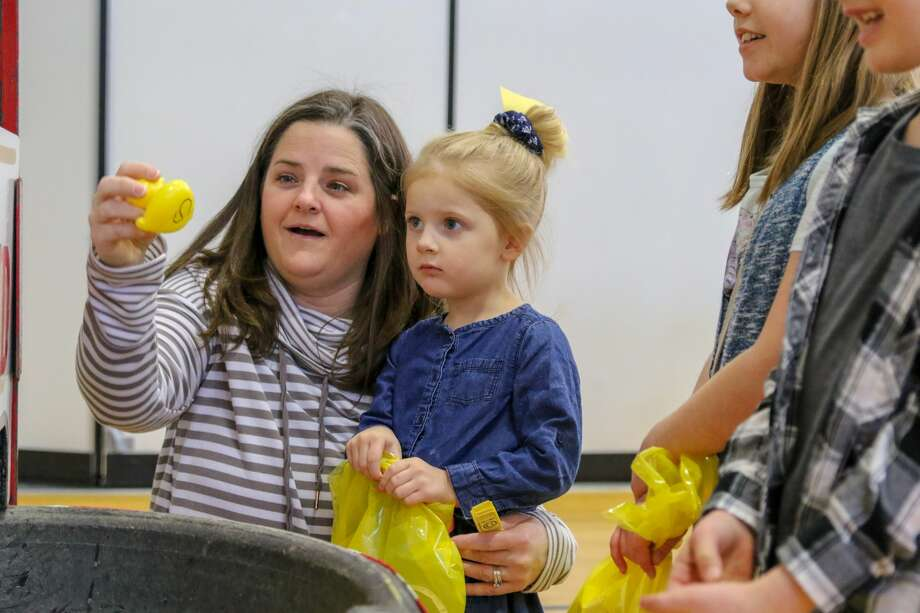 Students enjoy a number of activities during the Laker PTOC carnival March 7. Photo: Eric Young/Huron Daily Tribune