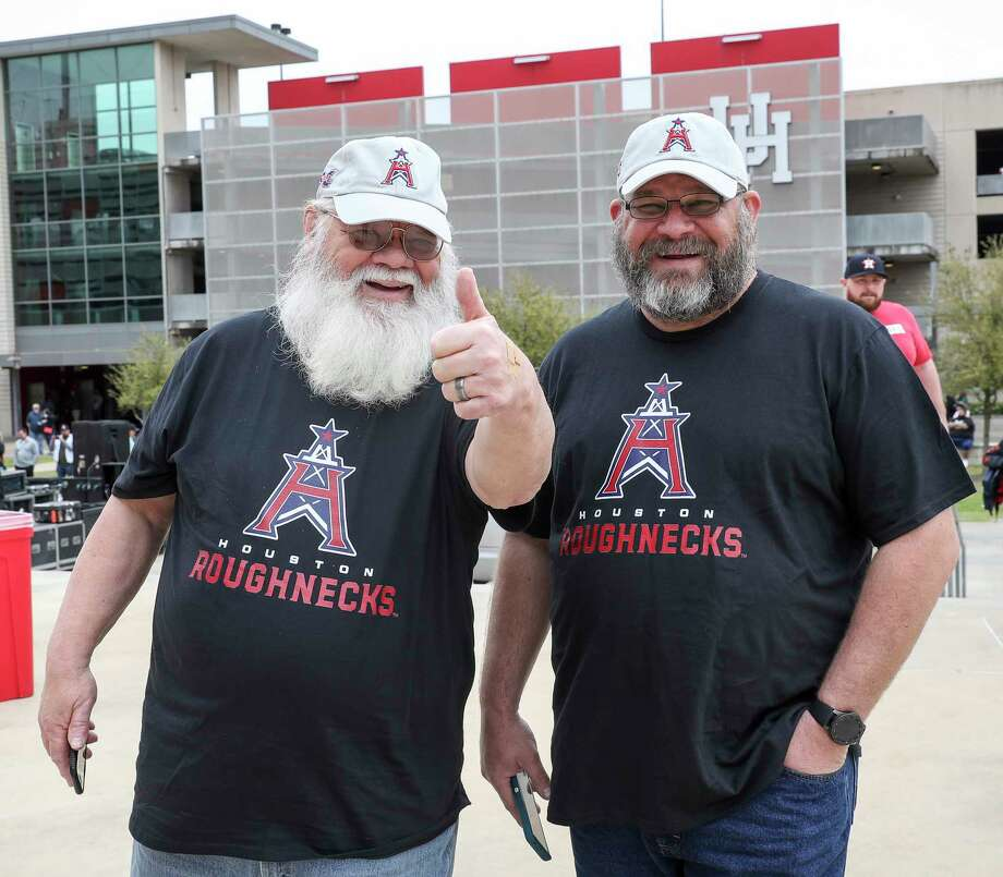 Fans pose for a photo before an XFL game between the Houston Roughnecks and the Seattle Dragons on Saturday, March 7, 2020, at TDECU Stadium in Houston. Photo: Jon Shapley, Staff Photographer / © 2020 Houston Chronicle