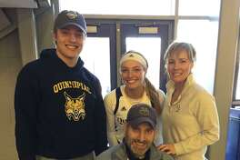 Quinnipiac's Taylor Herd was joined by her family at one of her games.