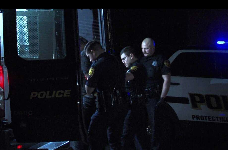 San Antonio police arrest a man they say drove around firing an AK-47 into the air Friday night, March 6, 2020, on the Northeast Side. Photo: 21 Pro Video