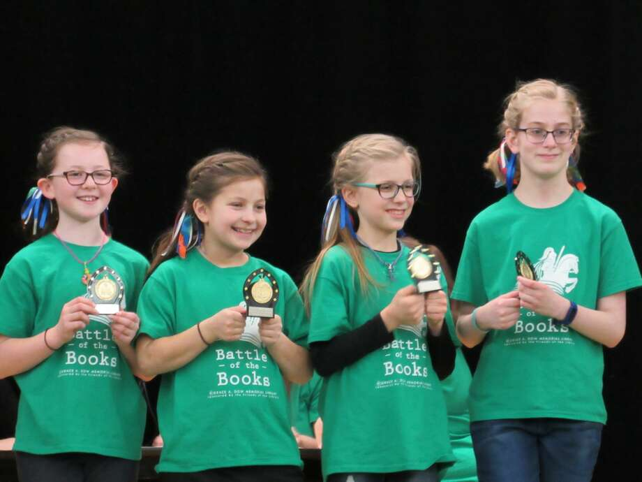 Teams from Adams and Pine River elementary schools competed in the Battle of the Books Championship Battle on Saturday, March 7 at Grace A. Dow Memorial Library. Photo: Victoria Ritter/vritter@mdn.net