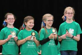 Teams from Adams and Pine River elementary schools competed in the Battle of the Books Championship Battle on Saturday, March 7 at Grace A. Dow Memorial Library.