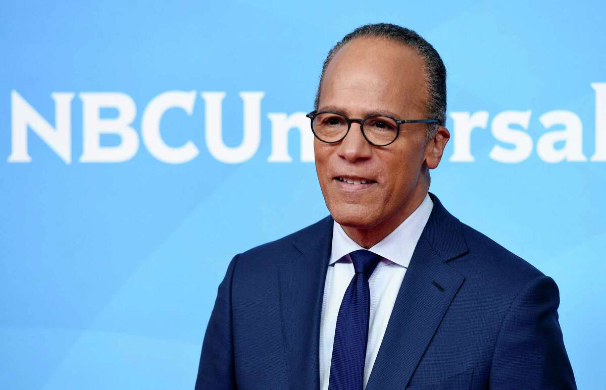 """FILE - In this May 2, 2018, file photo, Lester Holt, the anchor of """"NBC Nightly News with Lester Holt,"""" poses during the 2018 NBCUniversal Summer Press Day in Universal City, Calif. Holt and four of his NBC News colleagues will share moderating duties for the first debate of 2020 Democratic presidential contenders. The debate, shown on NBC News networks, will unfold over two nights in Miami on June 26 and June 27. (Photo by Chris Pizzello/Invision/AP, File)"""