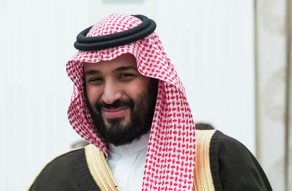 FILE - This May 30, 2017 file photo, shows Saudi Crown Prince and Defense Minister Mohammed bin Salman, (MBS), in Moscow's Kremlin, Russia. The Wall Street Journal is reporting that Saudi officials have arrested two members of the royal family for allegedly plotting to oust King Salman and the son he has designated to succeed him, Crown Prince Mohammed bin Salman, Friday, March 6, 2020. (AP Photo/Pavel Golovkin, Pool, File)