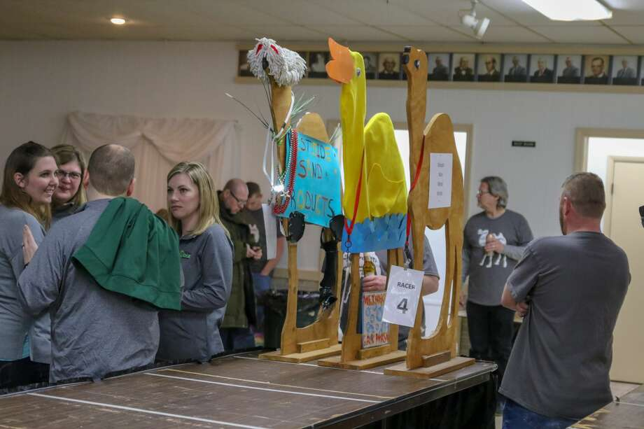 Local residents participate in the camel races March 7. Photo: Eric Young/Huron Daily Tribune