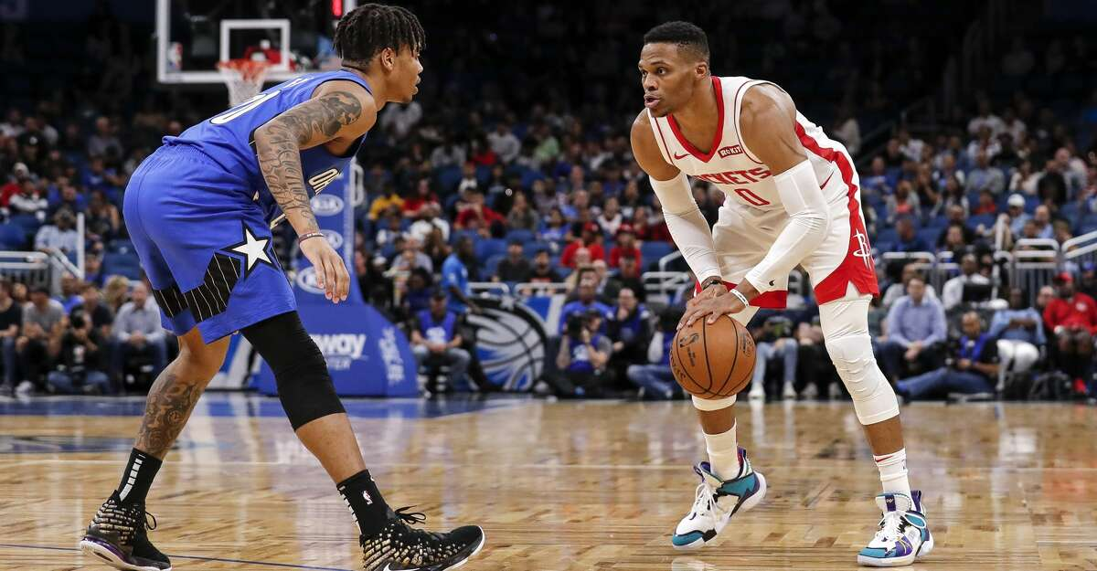 PHOTOS: Rockets game-by-game Russell Westbrook #0 of the Houston Rockets is defended by Markelle Fultz #20 of the Orlando Magic during the game at the Amway Center on December 13, 2019 in Orlando, Florida. The Rockets defeated the Magic 130 to 107. (Photo by Don Juan Moore/Getty Images) Browse through the photos to see how the Rockets have fared in each game this season.