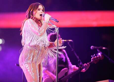 Maren Morris performs during Rodeo Houston at NRG Stadium on Saturday, March 7, 2020.
