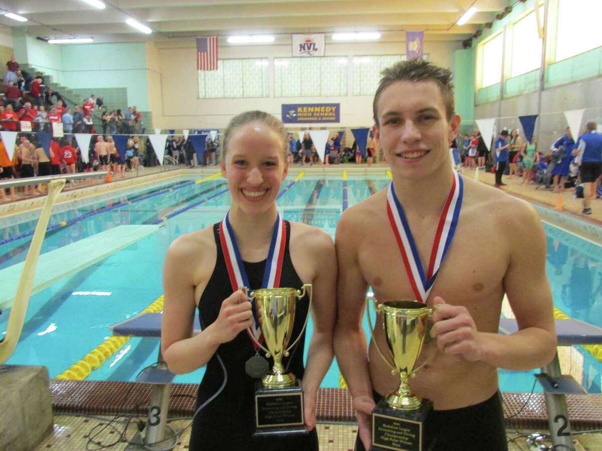 Northwestern's Kelly Stotler and Alex Beauchene were named High Point Winners in Saturday's Berkshire League Swimming and Diving Championships at Kennedy High School.