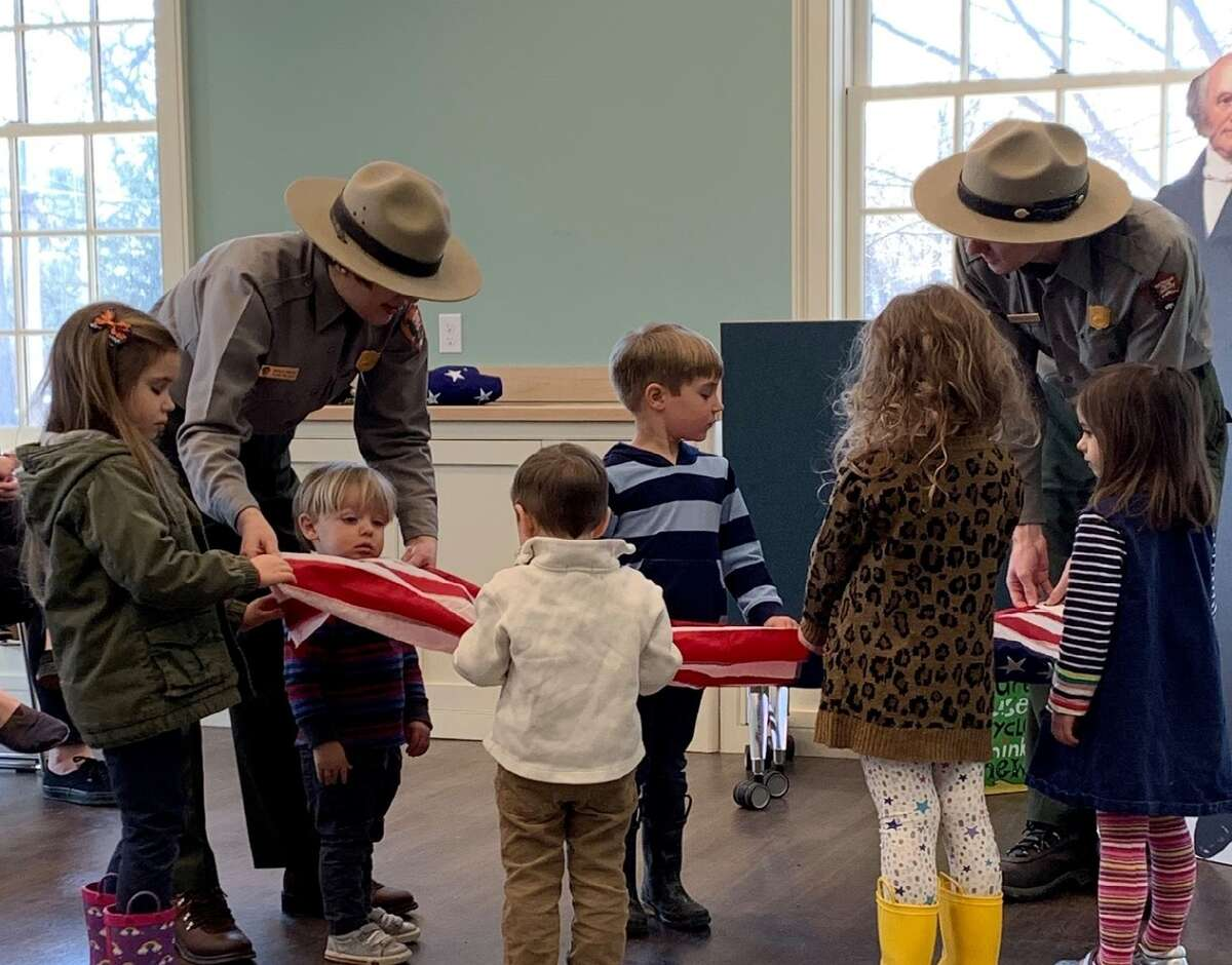 The Martin Van Buren National Historic Site and Kinderhook Memorial Library offer the chance for youngsters to learn about President Van Buren. Ranger Time will be a spring activity program for children ages 3 to 5, held 11 a.m. to noon the third Thursday of each month at the library, 18 Hudson St. on March 19, April 16 and May 21. (Van Buren Historic Site photo)