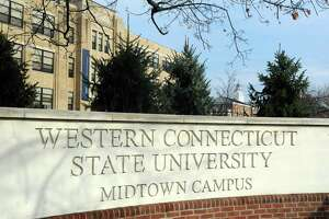 File photo of Western Connecticut State University's Midtown campus at 181 White Street in Danbury, Conn.
