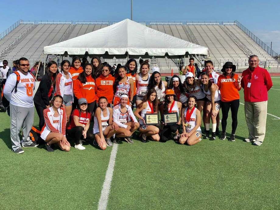 The Lady Longhorns won the Border Olympics girls' team title Saturday. Photo: Clara Sandoval /Laredo Morning Times