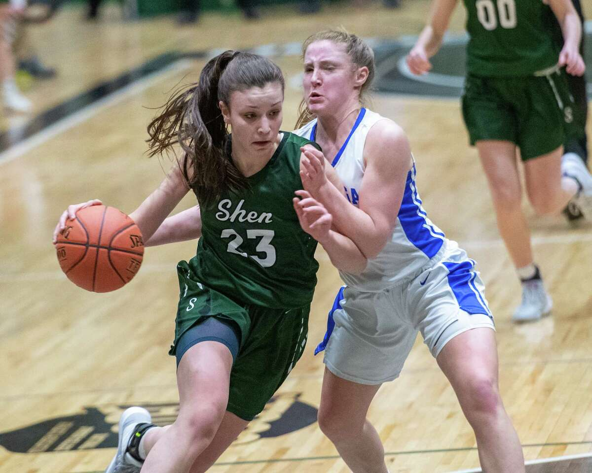 Shenendehowa junior Meghan Huerter, shown in the postseason last season, is among those looking forward to the possibility of playing basketball sometime in February. (Jim Franco/Special to the Times Union)