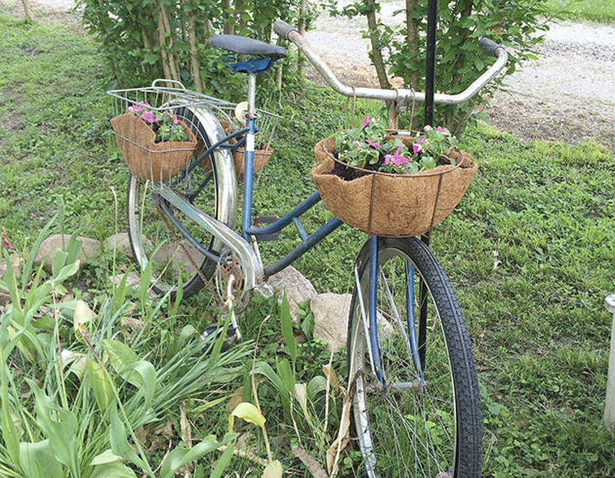 Someone removed this antique bicycle from a residence in the 900 block of North Prairie Street.