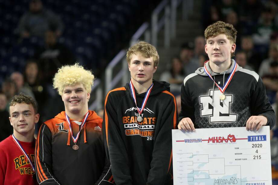 Ubly wrestler Shane Osantowski took second place at the Division 4 state finals at Ford Field on Saturday, March 7. Photo: Eric Rutter/Huron Daily Tribune