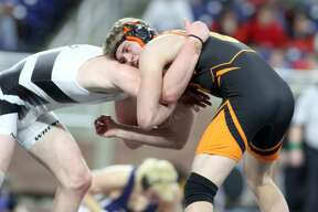 Ubly wrestler Shane Osantowski took second place at the Division 4 state finals at Ford Field on Saturday, March 7.