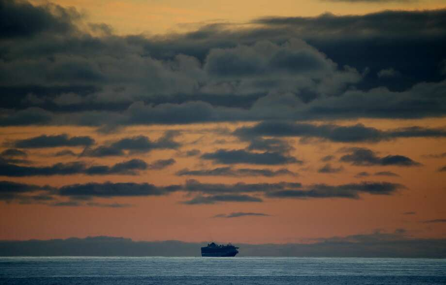 The Princess Cruises Grand Princess cruise ship sits off the coast of San Francisco as it takes on supplies on March 7, 2020. The Grand Princess continued to circle off the coast of San Francisco after individuals tested positive for the coronavirus COVID-19. Photo: Justin Sullivan/Getty Images