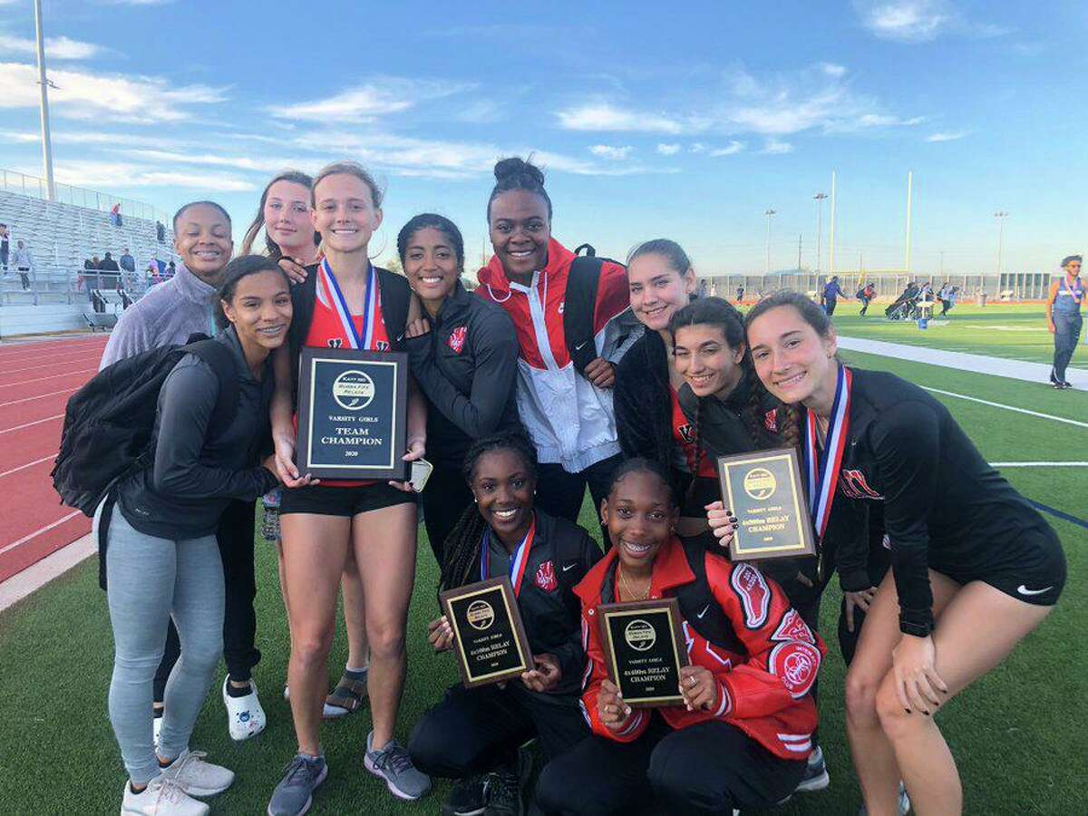 The Katy girls track and field team remained undefeated for the 2020 season, winning the Bubba Fife Relays with 130 points to finish ahead of district rivals Cinco Ranch (91) and Tompkins (89).