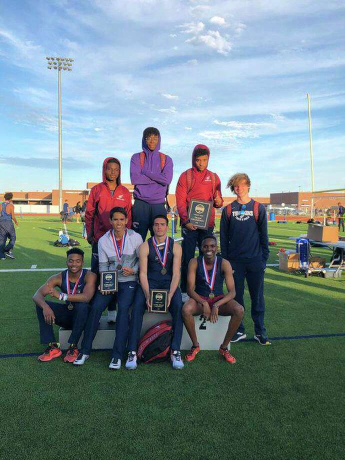 The Tompkins boys track and field team won the Bubba Fife Relays championship, scoring 110 points to outpaceStrake Jesuit (68) and Ridge Point (60). Photo: Tompkins High School