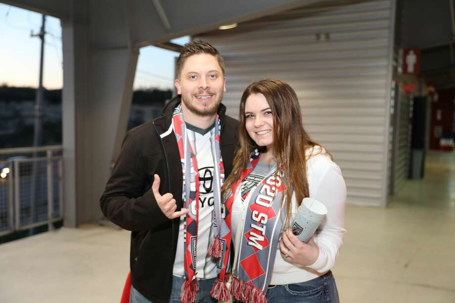 San Antonians cheered on the San Antonio FC as they played against the Real Monarchs at the Toyota Field on Saturday, March 7, 2020. Photo: Marco Garza