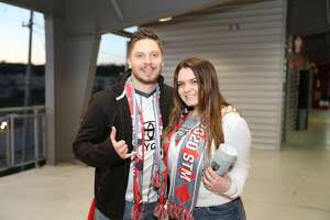 San Antonians cheered on the San Antonio FC as they played against the Real Monarchs at the Toyota Field on Saturday, March 7, 2020.