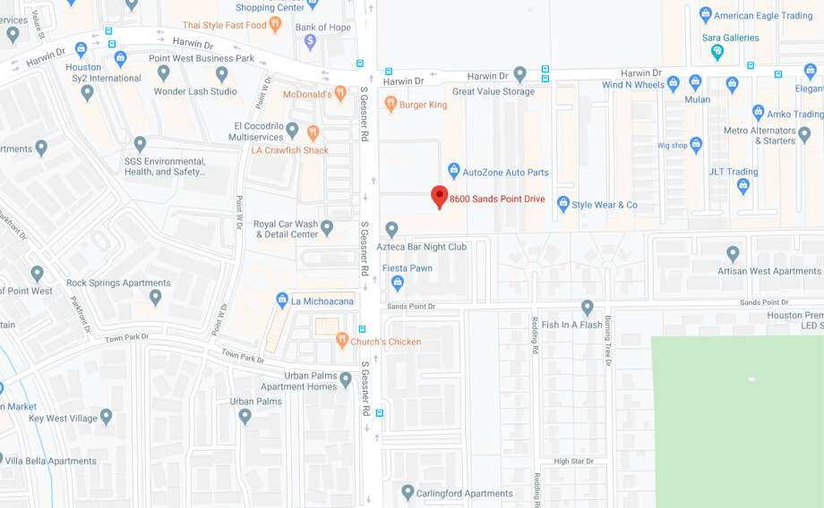 Investigators believe the man and woman got into a fight around 4 a.m. inside the home at 8600 Sands Point Drive, near Gessner Road. Photo: Google Maps