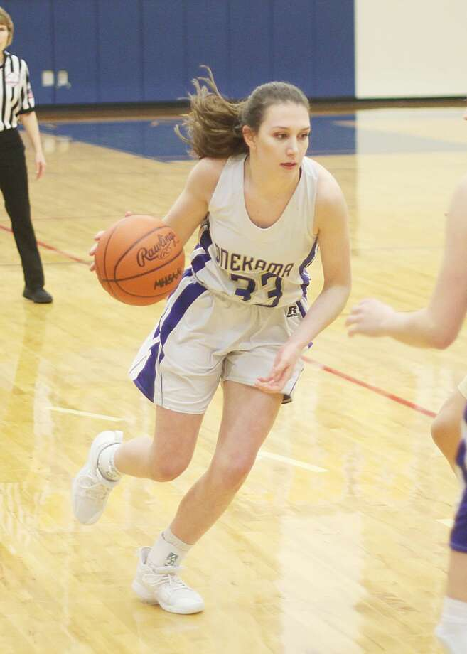 Colleen McCarthy and the Onekama Portagers will look to keep pushing through the postseason when they take on Bellaire in a Division 4 regional semifinal on Tuesday at Traverse City Central. Photo: News Advocate File Photo