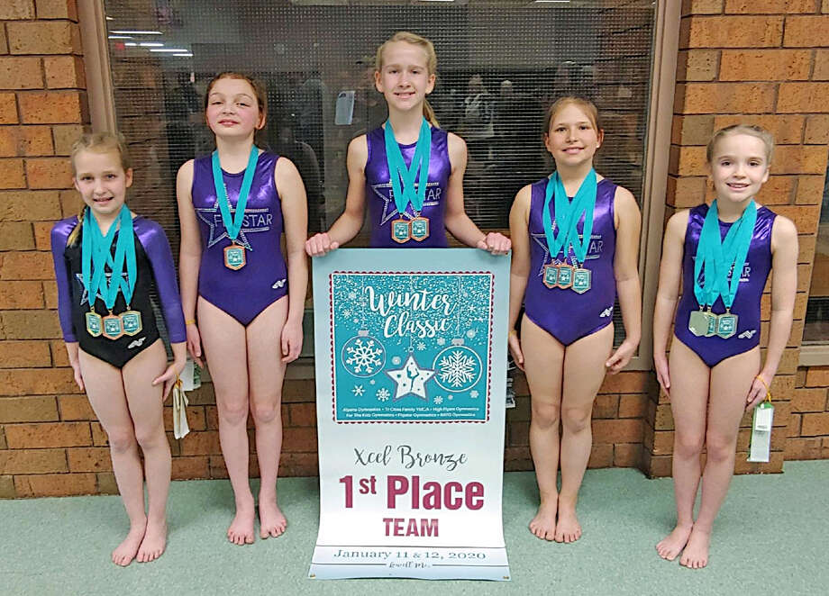 Flipstar Gymnastics had a strong showing at the Winter Classic Invitational in Lowell on March 1. Photo: Courtesy Photo