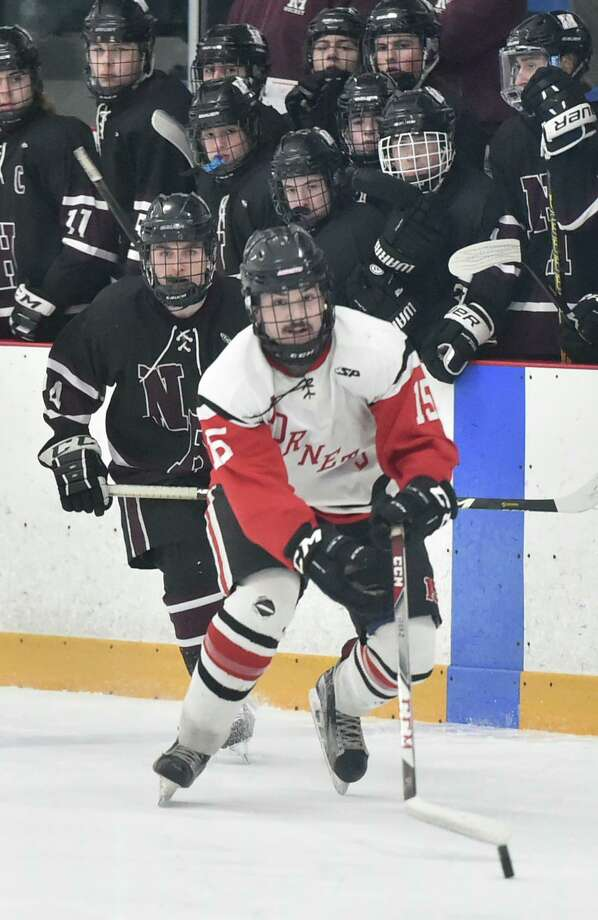 West Haven, Connecticut - Saturday, March 07, 2020: Branford H.S. vs. North Haven H.S. during the SCC/SWC 2020 Boys Ice Hockey Division II Championship Saturday at Bennett Rink in West Haven Photo: Peter Hvizdak / Hearst Connecticut Media / New Haven Register