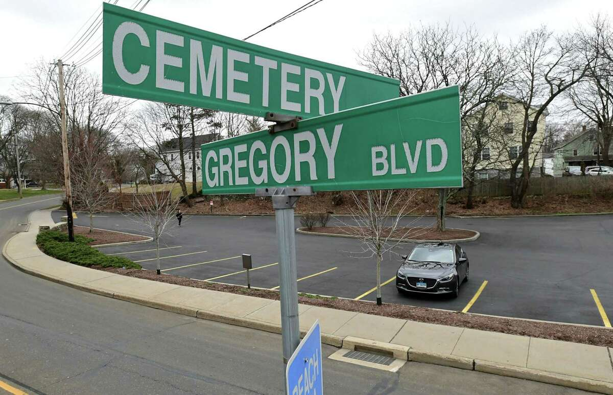 Cemetary Street and the the Well Fargo bank parking lot Friday, March 6, 2020, in Norwalk, Conn.