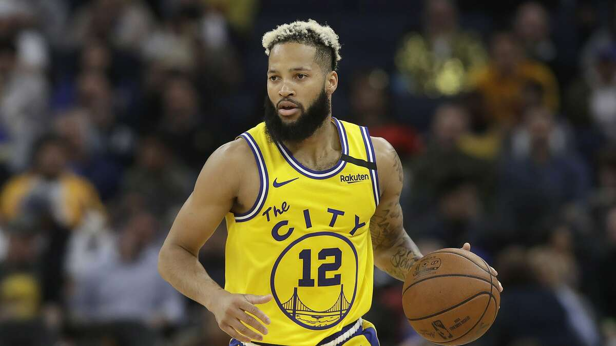 Golden State Warriors guard Ky Bowman against the Los Angeles Lakers during an NBA basketball game in San Francisco, Thursday, Feb. 27, 2020.