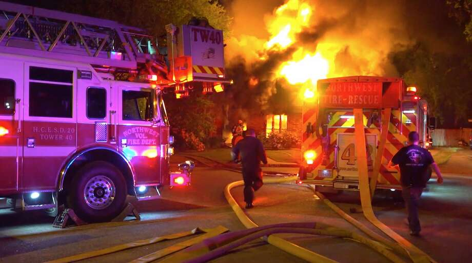Firefighters work to put out a fire at a home in the 11500 block of Pinole Lane Court on Sunday, March 8, 2020. Photo: OnScene.TV