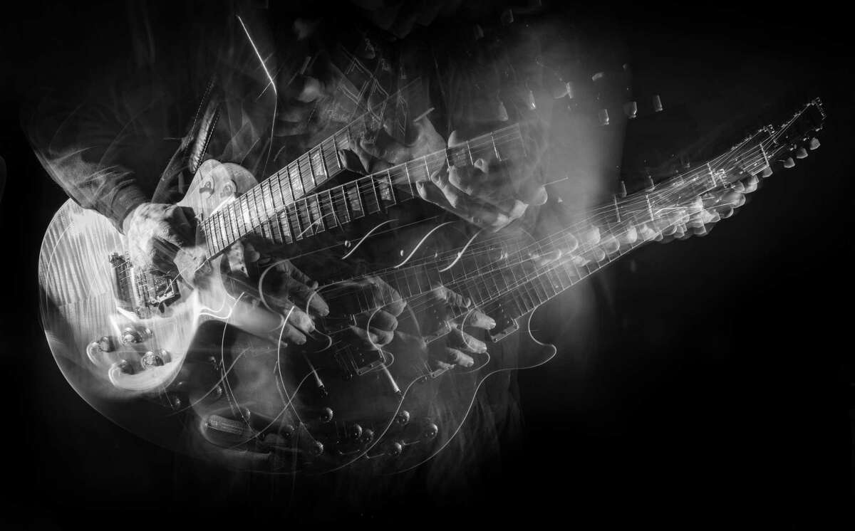 Harold Shapiro uses long exposures to portray the dynamism of musical instruments. Above,