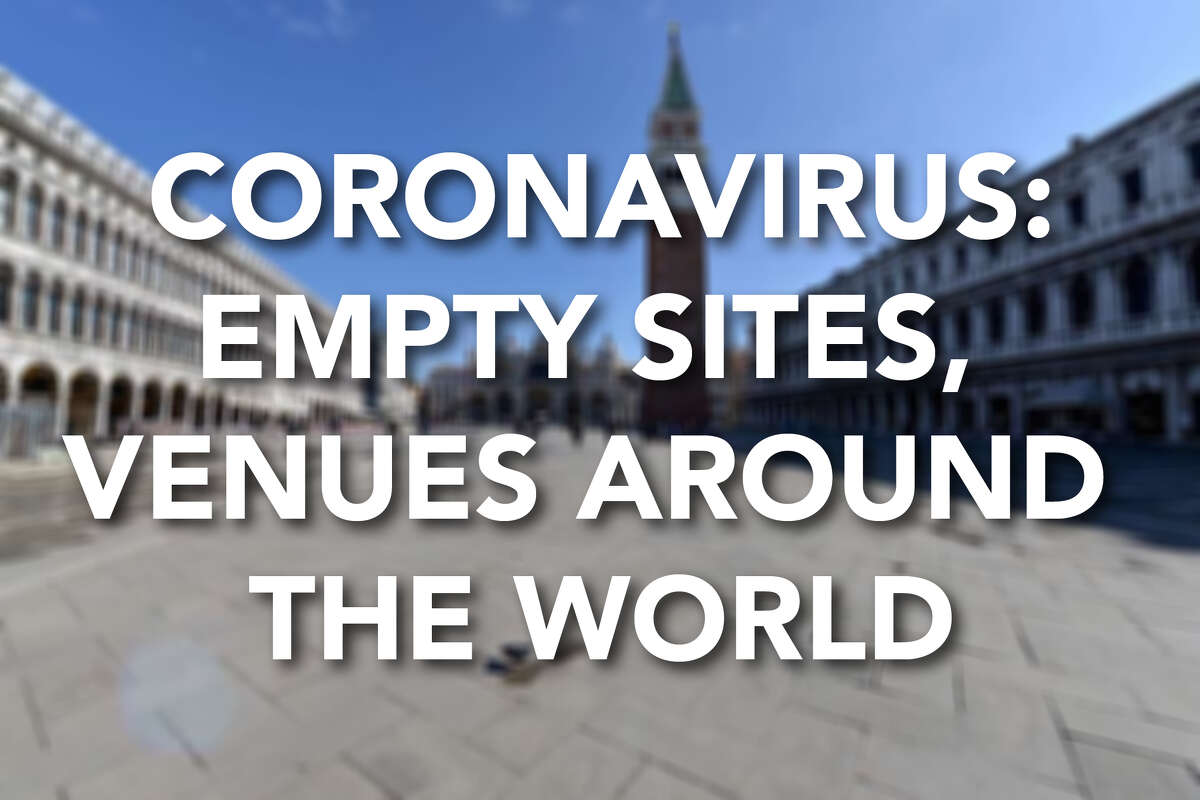 Click ahead to see how coronavirus fears have led to empty streets, attractions and stadiums around the world.