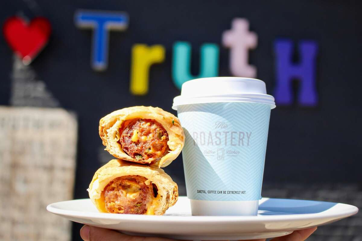 The Roastery Coffee Kitchen is temaing with Truth BBQ for a special-edition kolache made with Truth's smoked pork and beef sausage, available through March at Roastery's Buffalo Heights, Heights and San Felipe locations.