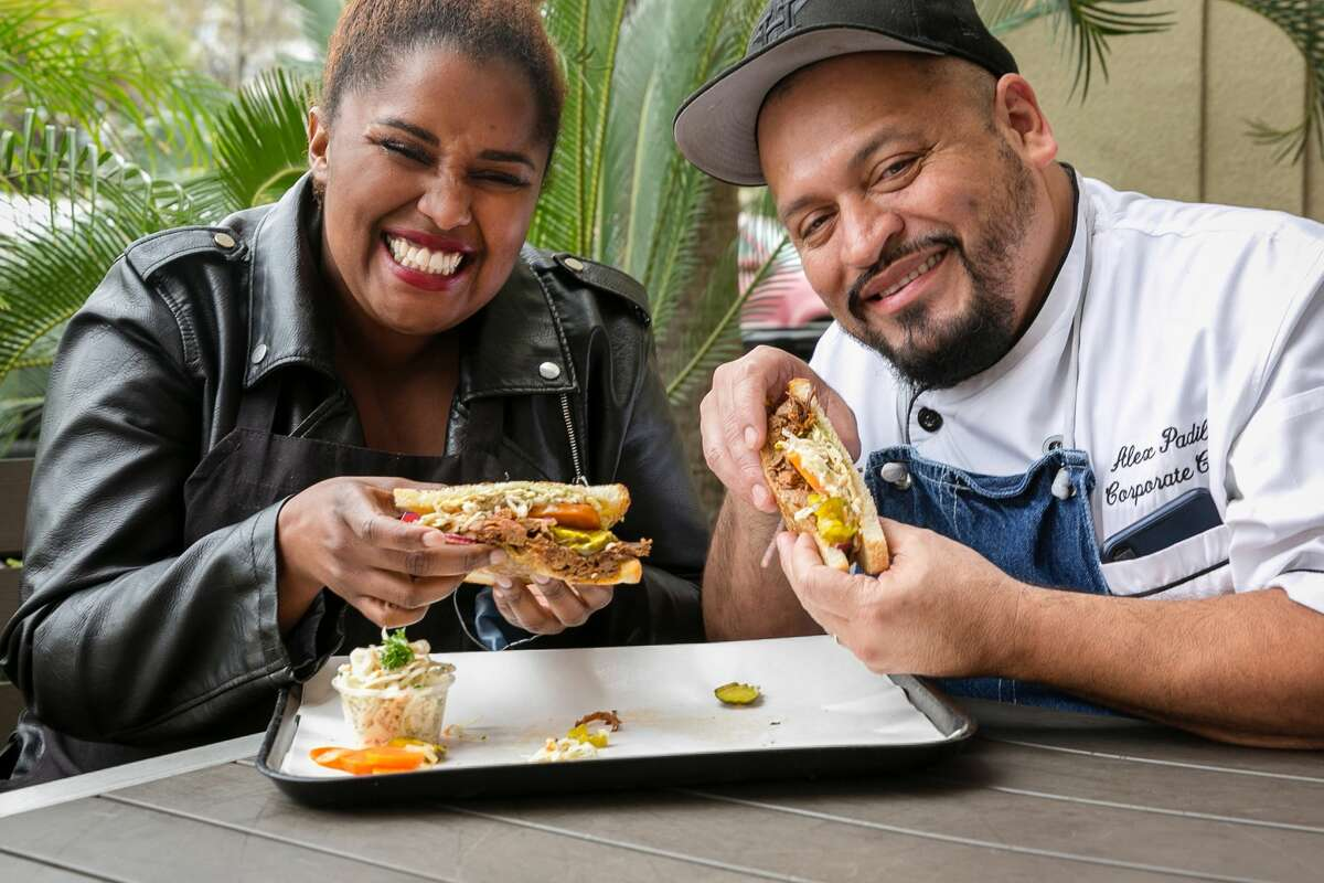 """The Suffers lead singer Kam Franklin is collaborating with Antone's Famous Po'boys for a special brisket sandwich, """"This Ain't My First Rodeo,"""" available through March. She created with fundraising sandwich with Antone's culinary director Alex Padilla."""