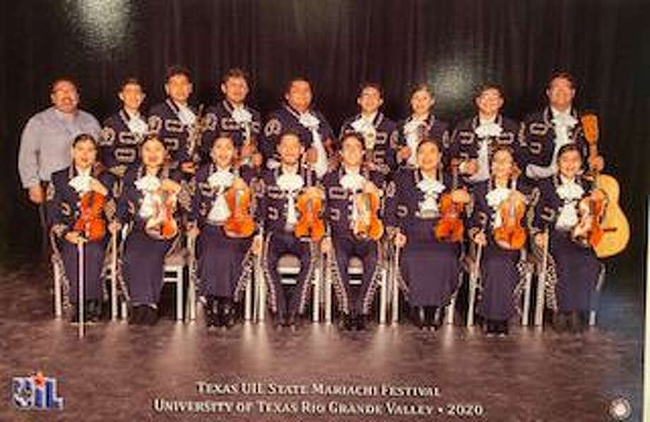 The Cigarroa High School Mariachi Azteca poses at the Texas UIL State Mariachi Festival at the University of Rio Grande Valley. Photo: Courtesy Photo