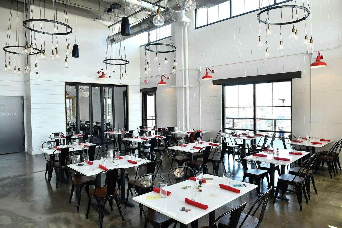 The dining room at Porta'Vino , 7800 Washington Ave.