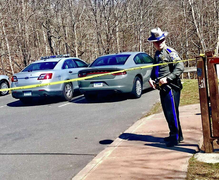 Connecticut State Police major crimes detectives are at the scene of an untimely death reported on Monday, March 9, 2020 morning at Wadsworth Falls State Park in Middlefield. Photo: Cassandra Day /Hearst Connecticut Media