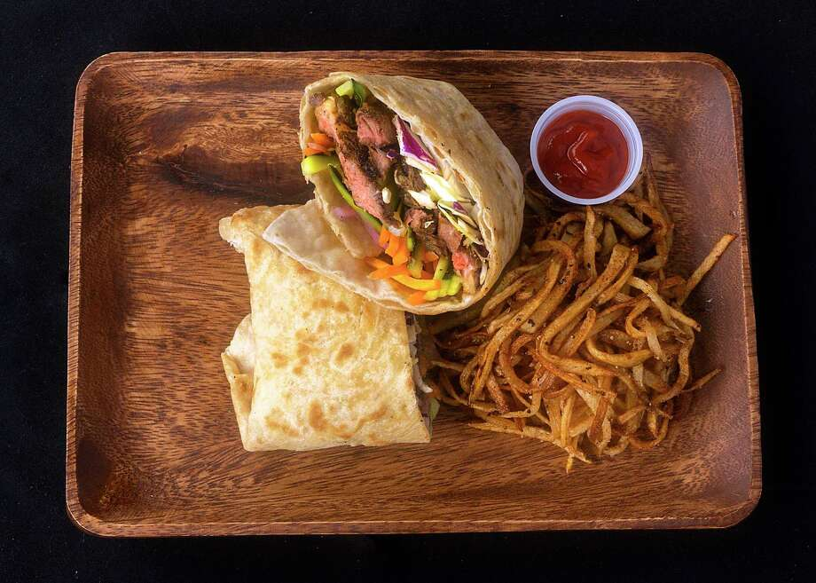Flatbread wraps called roti will anchor the menu at Mi Roti, a new food vendor at the Pearl's Bottling Department food hall from The Jerk Shack team. Photo: Mi Roti