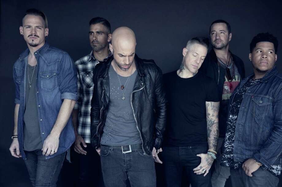 Daughtry was set to rock Stamford's Palace Theatre March 25, but the show has been postponed. From left are Brian Craddock, Elvio Fernandes, Chris Daughtry, Josh Paul, Josh Steely and Brandon Maclin. They're still set to play Mohegan Sun Arena Sept. 3. Photo: Contributed Photo