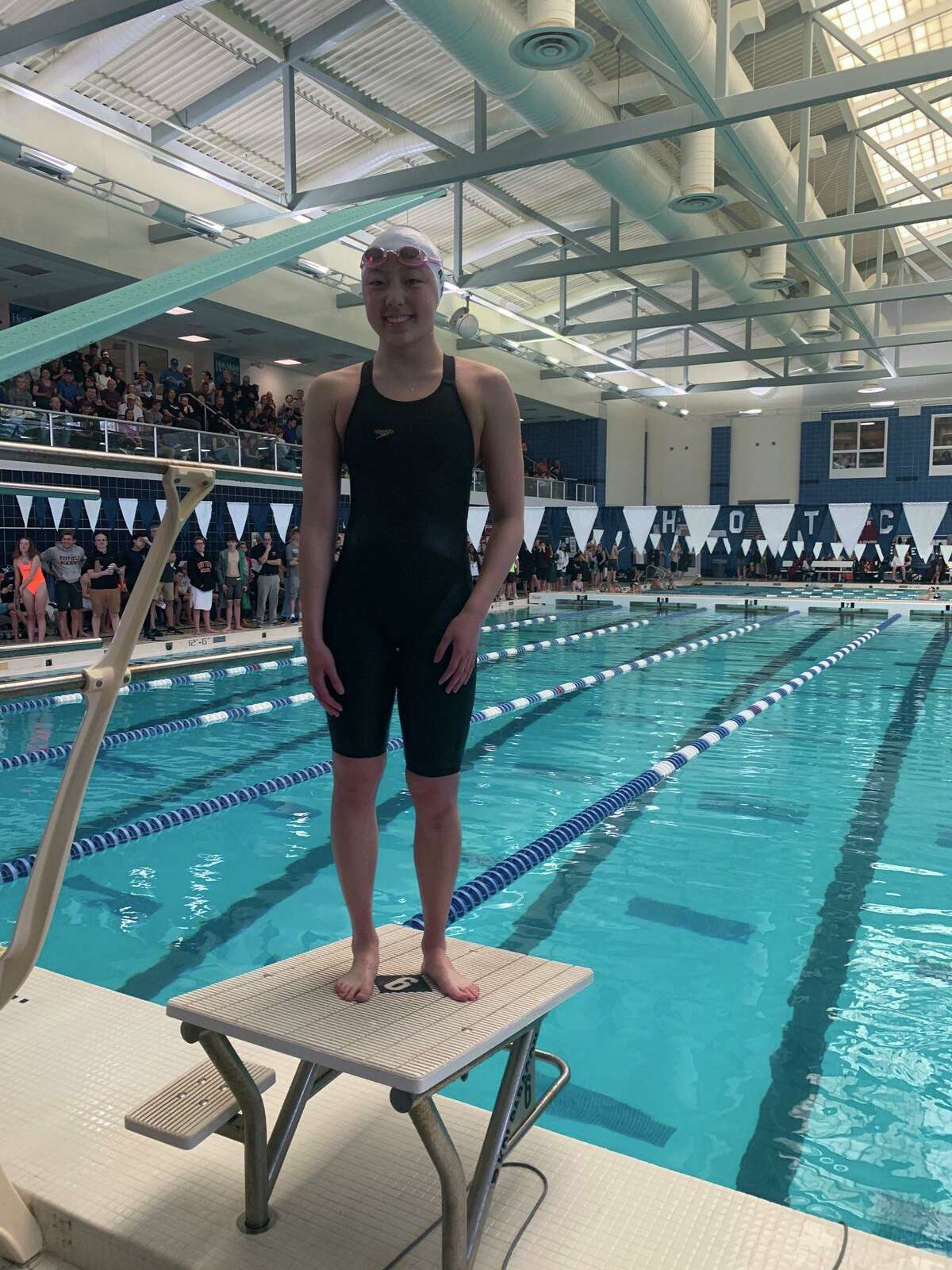 Ashley Hu of Greenwich Academy won the 100-yard breaststroke title at the NEPSAC Division I Swimming Championships on Sunday, March 8, 2020.