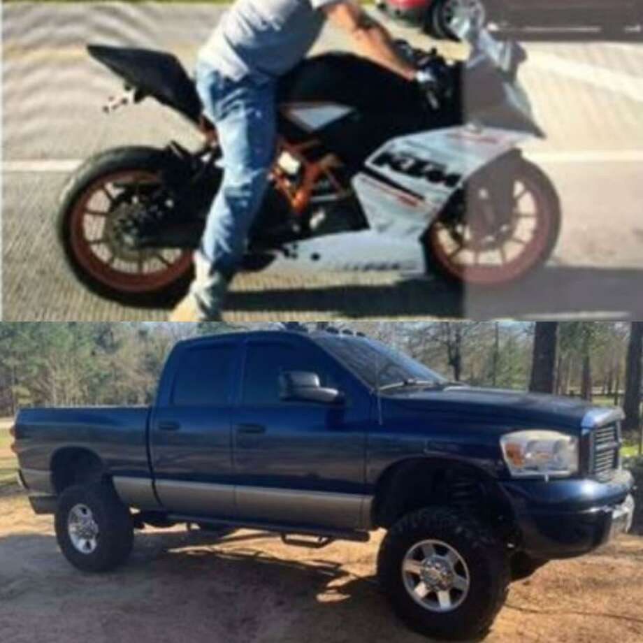 Two vehicles, a truck and a motorcycle, were reported stolen in Conroe. Photo: Courtesy Of The Montgomery County Sheriff's Office