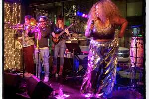 Vocalist Kam Franklin and The Suffers at the SFJazz After Party. Jan. 30, 2020.