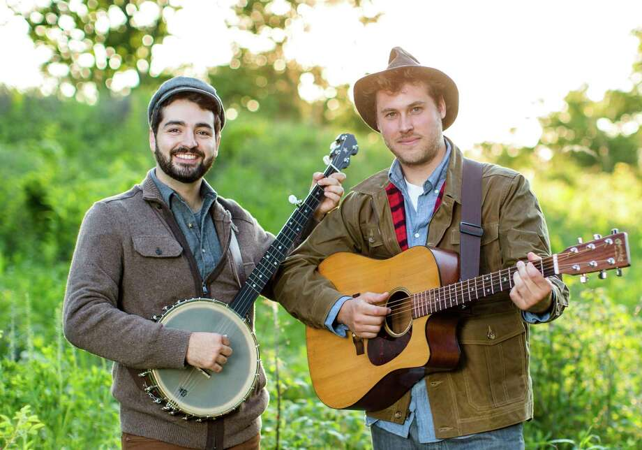 Justin Lansing and Joe Mailander, known as the Okee Dokee Brothers, will perform March 13 at the Midland Center for the Arts. They will host a songwriting circle on March 14 at Chippewa Nature Center. (Photo provided) / ©Alex Johnson Photography