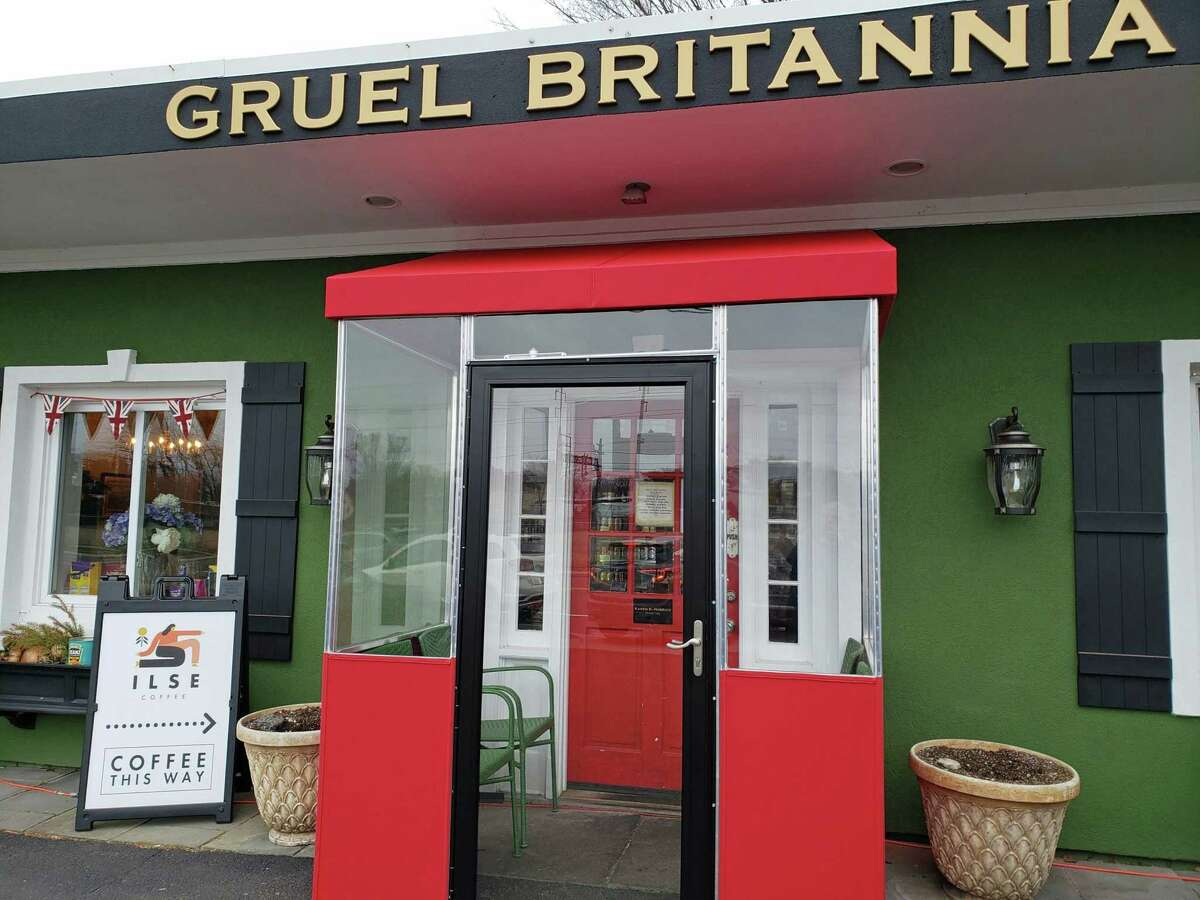 Gruel Britannia is a cozy spot on the post road in Fairfield.