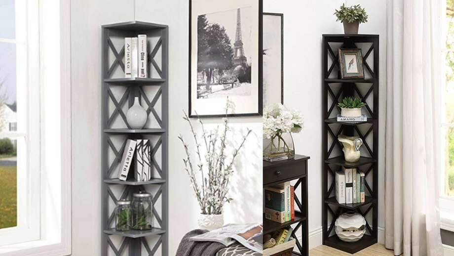 Convenience Concepts Oxford 5-Tier Corner Bookshelf, $86 Photo: Amazon